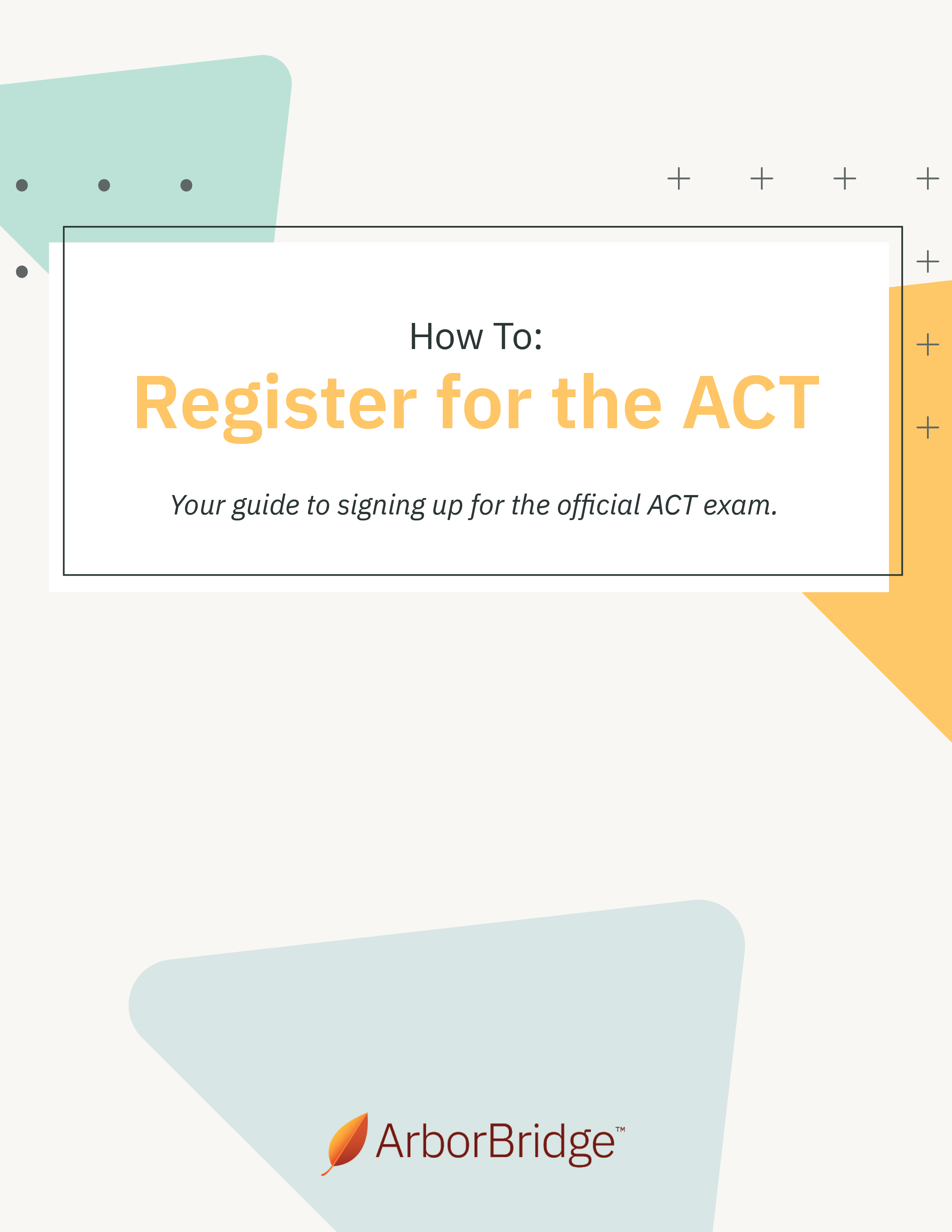 How To Register for the ACT Cover-1